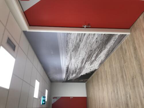 Fotowand en PVC vloer praktijk